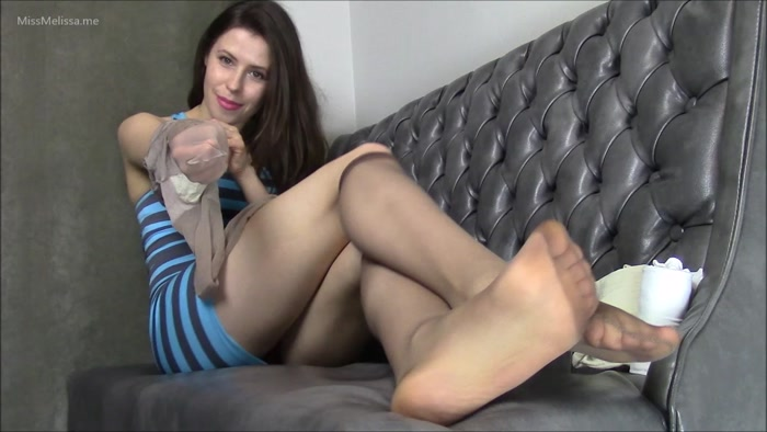 Miss Melissa - Nylon Soles in Nude Knee Highs