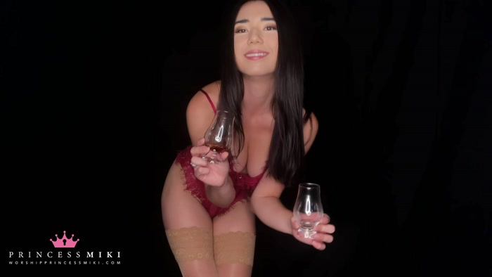 Princess Miki - Luxury Spirit Infused Spit - Femdom