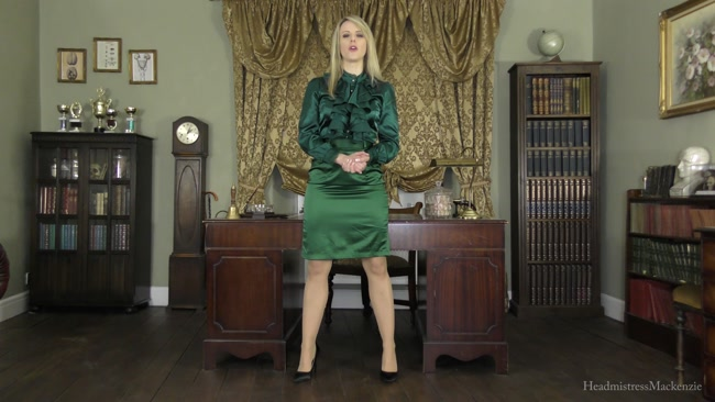 Headmistress Mackenzie - Disgusted When You Ejaculate on My Satin Skirt During a Spanking